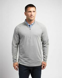 Travis Mathew YANKS pullover 14 zip GREY GRAY Men's Golf Shirt BRAND NEW