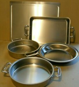 Americraft Stainless Steel Made in America 5pc Bake ware West Bend Wisc.