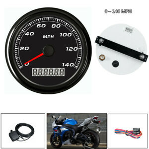 85MM 3 2 5 GPS 140MPH Speedometer Gauge Device Car Motorcycle BacklightCable $66.74