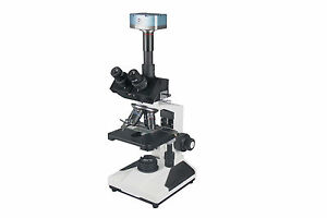 Research Clinical Histology Trinocular Zoology lab Microscope w 3Mp USB Camera