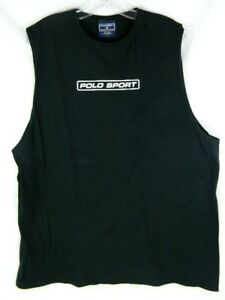 Vintage 90's Polo Sport Ralph Lauren Spell Out Sleeveless T-Shirt Tank Top Large