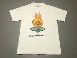 Vintage 90s Torch Run Special Olympics 1997 Walt Disney World T Shirt Size M $34.99