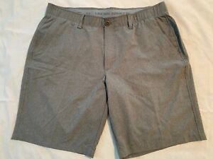 UNDER ARMOUR~LOOSE FIT GOLF SHORTS~HEATHER GRAY CHECK~MENS  38
