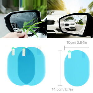 2 x Car Rearview Mirror Waterproof Membrane Anti Fog Coating Rainproof Film