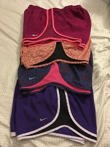 Nike Dry Fit Tempo Running Shorts Women's Size Large Lot Of 4