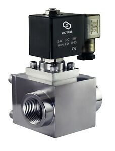 High Pressure Stainless Energy Save Electric Solenoid Valve NC 12