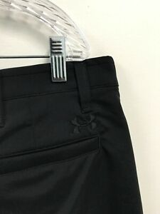 Mens Under Armour Heatgear Loose Fit Casual Golf Shorts Size 40 Solid Black