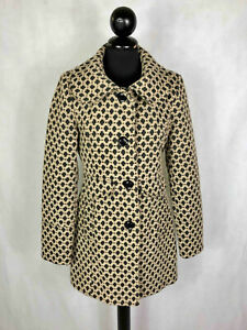 Designer Vintage Women's Coat Exhausted Polka dot Woman Coat Jacket SZ.S - 42