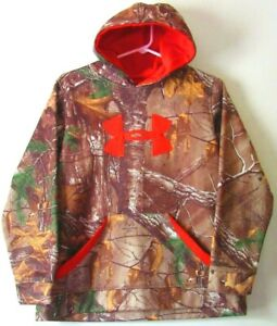 Under Armour Storm Hoodie Loose Realtree Camo Boys Youth XL YXL