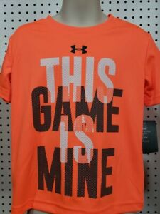 Boys Kids Youth Under Armour Shirt NEW Orange short sleeves Game Mine Size 4 $8.95