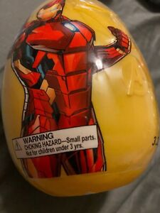 NEW Iron Man JUMBO Egg Surprise TOY Candy Stickers RARE Avengers