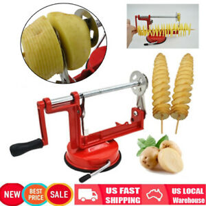 Manual Spiral Potato Chips Twister Slicer Machine Stainless Steel Vegetable Cut