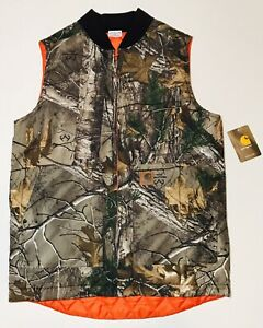 Carhartt Realtree Xtra Camo Reversible Vest Kids Youth 1416 Insulated NWT