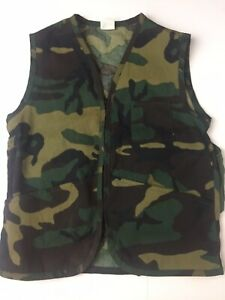 Patriot Industries Youth Camoflouge Camo Game Vest Size 16-18 USA VTG