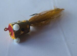 VINTAGE ORVIS POPPING FROG FLY LURE GREEN YELLOWBROWN