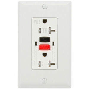 GFCI UL listed Outlet, 20 Amp, Tamper-Resistant, Weather Resistant Receptacle