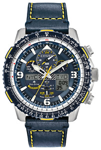 New Citizen Promaster Skyhawk Blue Angels Atomic Leather Watch JY8078-01L