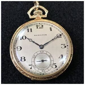 Vintage Hamilton Gold Pocket Watch Gift to HILTON U. BROWN by BUTLER UNIVERSITY