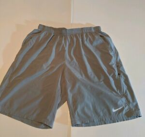 Nike Dri Fit Athletic Workout Running Shorts With Pocket s Men's XXL 2XL Gray