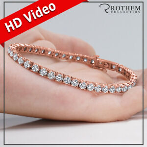 Womens Birthday Gift 8.30 CT K VVS2 Diamond Tennis Bracelet 14K Rose Gold 398