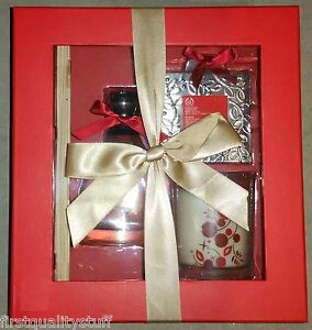 The Body Shop Diffuser CRANBERRY JOY Gift Set Candle and Reed Diffuser