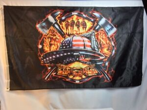 Firefighters Patriotic Hero Flag 3'x5' - FREE SHIPPING!!!