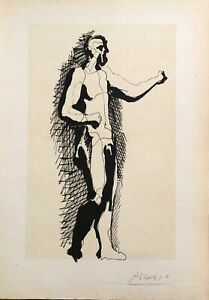 Pablo Picasso Figure Lithograph Signed by the Plate Great Bargain!