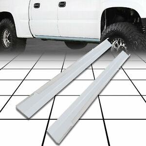 Slip On Rocker Panel fit 99 07 GMC Sierra Chevy Silverado Avalanch Crew Cab PAIR