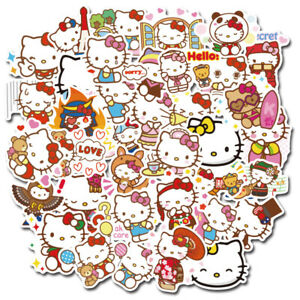 100pc No repeat lovely Hello kitty Stickers Luggage Decal Ornament Mark