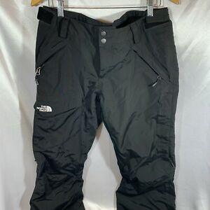 The North Face Ski Pants Black Swirl Pattern Insulated Hy Vent Women Sz LARGE L