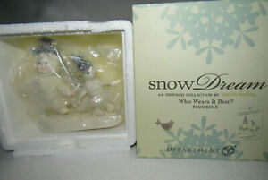 Who Wears It Best? 2013 Dept 56 Snowbabies Snow Dream Figure 4031866 NIB