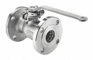 """Keckley 316 Stainless Steel Flanged x Flanged Ball Valve Locking Lever 3"""" Pipe"""