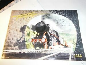 Fleischmann HO 1956 Catalog Vintage of American and European Trains 37 pages LN $5.00