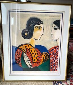 David Stein master forger Original Lithograph after Picasso two women abstract