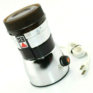 SEB Coffee Grinder - Model Type 108 N - Spice, Herb Electric Mill Chrome, FRANCE