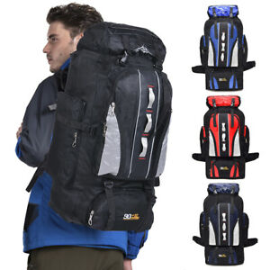 100L Military Tactical Backpack Camping Hiking Outdoor Travel Rucksack Luggage $22.90