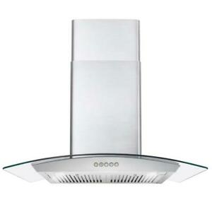 30 IN DUCTED WALL MOUNT RANGE HOOD STAINLESS STEEL PERMANENT FILTERS OPEN BOX