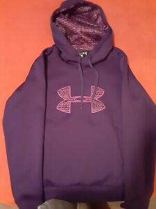 Womens Semi Fitted Purple Under Armour Hoodie Size Small $30.00