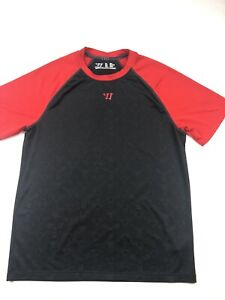 Warrior Lacrosse Performance Dry Fit Shirt Mens Small Black SS $6.00