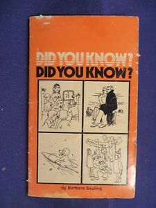 1977 DID YOU KNOW? Paperback Book by BARBARA SEULING