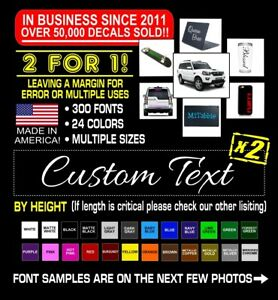2x Custom Vinyl Decal Sticker Lettering Personalized Business Text Laptop Car #3