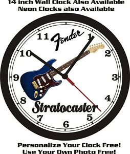 FENDER STRATOCASTER MEXICAN DELUXE WALL CLOCK-FREE USA SHIP!