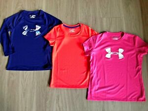 Girl's ** UNDER ARMOUR ** Heat Gear Shirts CHOOSE Sizes Youth XS Small Large