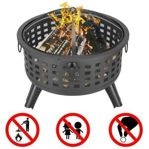 New Large Outdoor Fire Pit Wood Burning Backyard Patio Steel Bowl Fireplace US $82.90