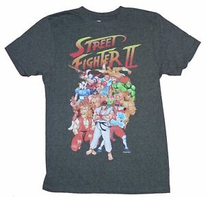 Street Fighter II Mens T Shirt Massive Character Cast Under Logo $18.99