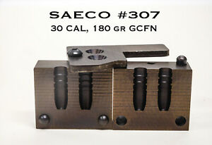 SAECO #307 30 CAL 180 gr. Gas Check Flat Nose Double cavity cast iron mold