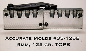 Accurate Molds 35-125E 4 cavity aluminum 9mm 125gr. TCPB bullet mold