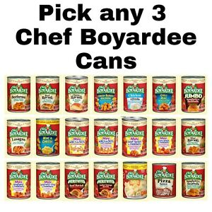Chef Boyardee Pick any 3 Cans Mix amp; Match Flavors: Spaghetti amp; Meatballs amp; More $14.99