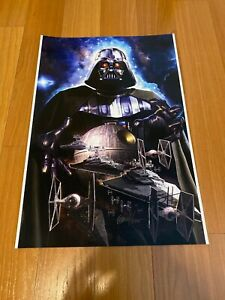 Greg Horn Comic Art Lithograph Print Star Wars Darth Vader 13x19 Rare Frame It