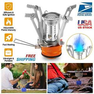 Portable Camping Stoves Backpacking Stove Wind Resistant Outdoor Hiking Cooking